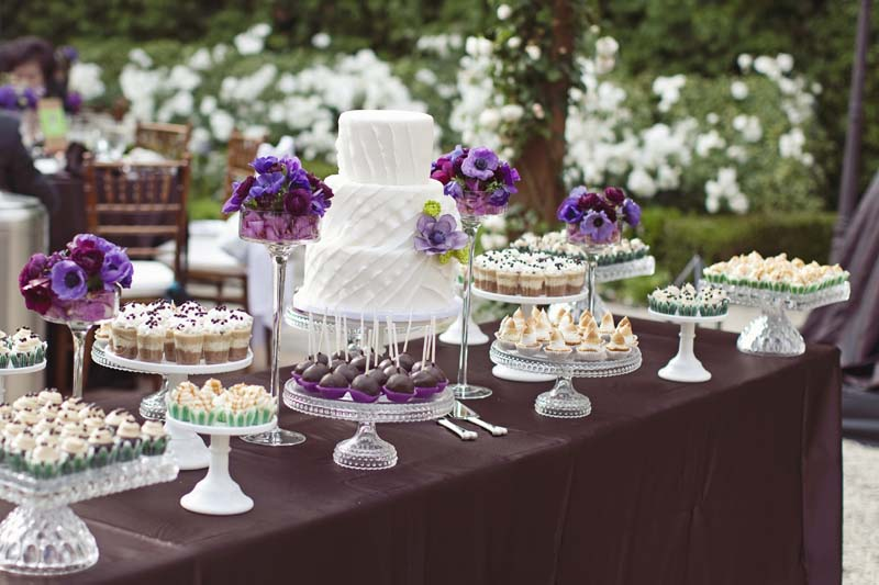eclectic purple and green wedding